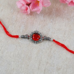 Antique Metal Flower Rakhi