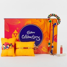 3 Rakhis And Cadbury Celebrations Combo