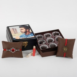 2 Rakhis And Megistric Chocolates Combo