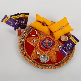 2 Rakhis And Cadbury Chocolates Combo